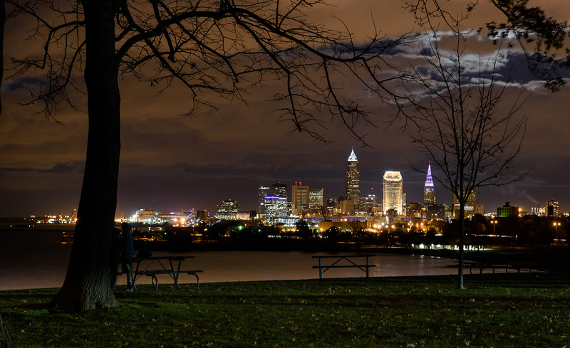 November Full Moon Over Cleveland, Ohio