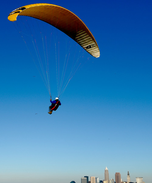 Soaring above the city. Edgewater Park, Cleveland, Oh