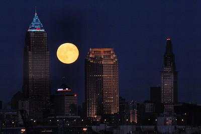 Cleveland Moonrise