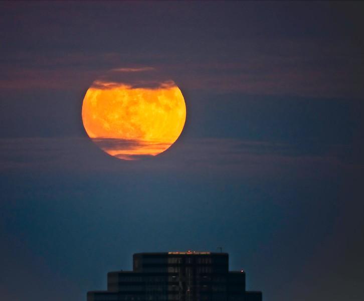 November Full Moon over Cleveland