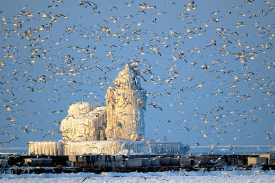 Cleveland's Frozen Lighthouse