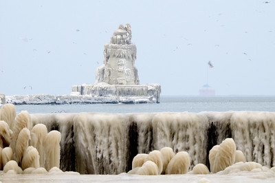 Winter at the Cleveland Coast Guard Station