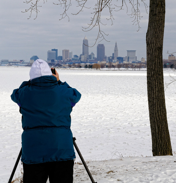 View of Cleveland from Edgewater Park