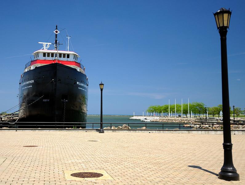 Cleveland's North Coast Harbor -  William G Mather Steamship