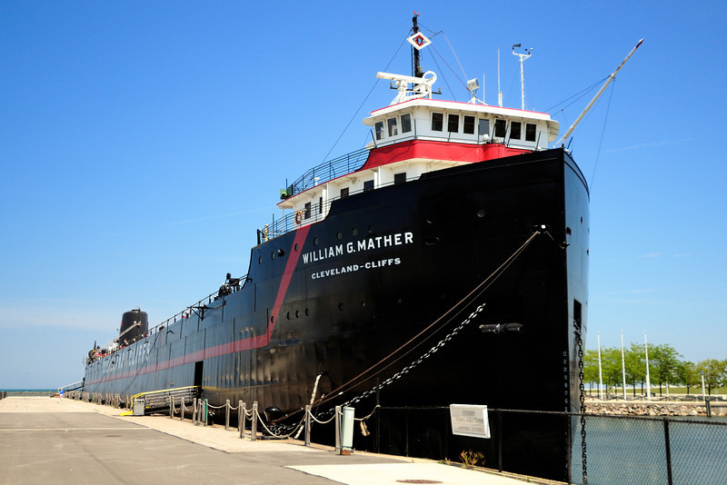 Cleveland's North Coast Harbor William G Mather Steamship