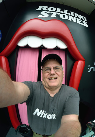 Me at the Rolling Stones Exhibit - Rock and Roll Hall of Fame