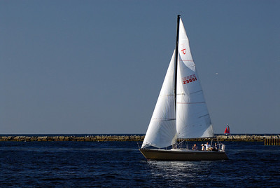 Sail Boat on Lake Erie