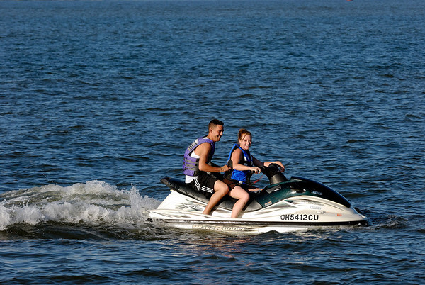 Jet Skiers on Lake Erie