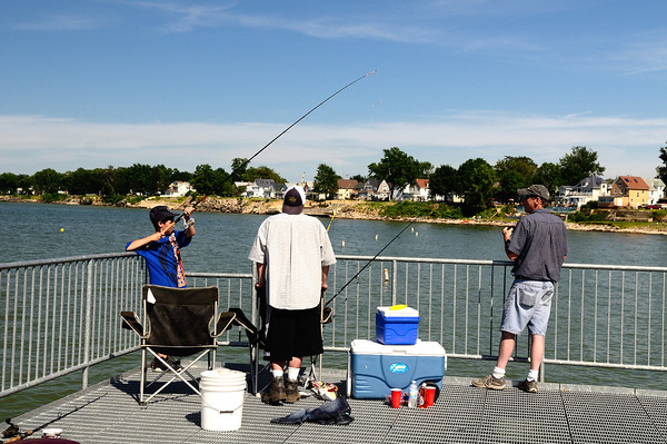 Fishermen on the Lorain Pier