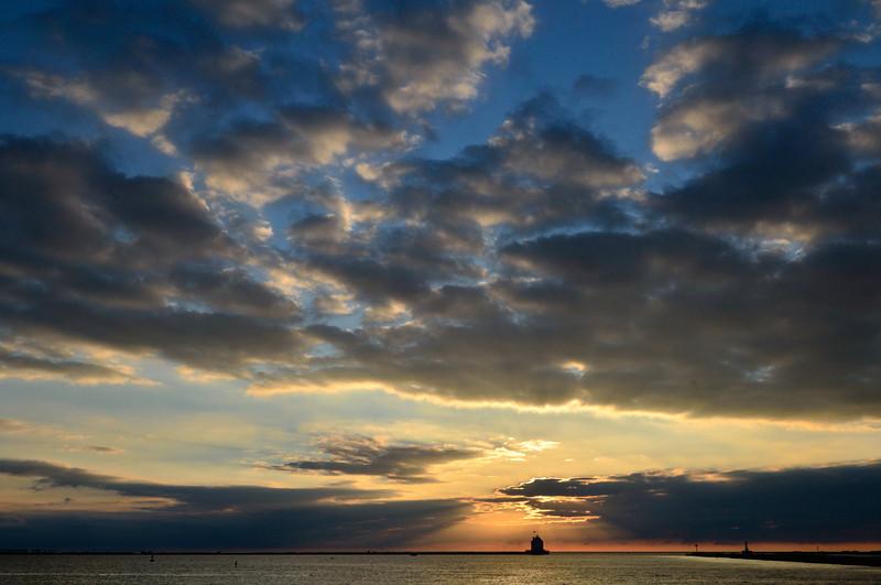 Lorain Lighthouse at Sunset