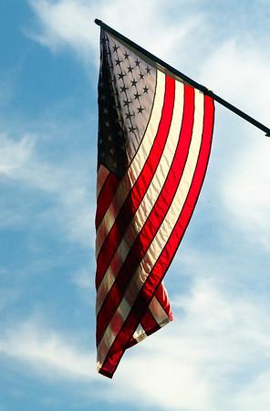 Flag on the Erie Ave Bridge - Lorain