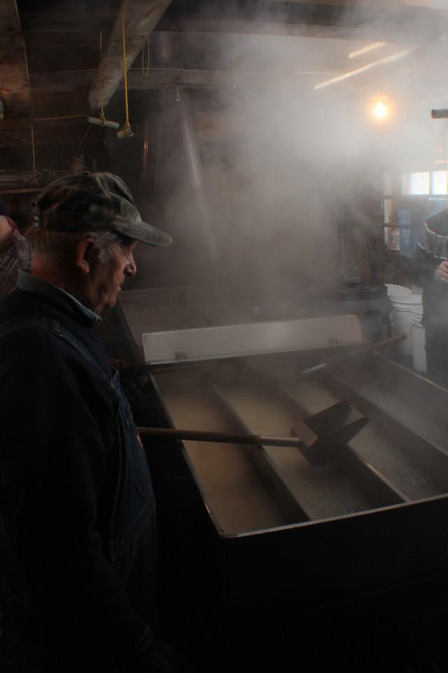 Bolduc Farms Sap House - Watching the Boil<br /> Img_7896<br /> w/Armand Bolduc