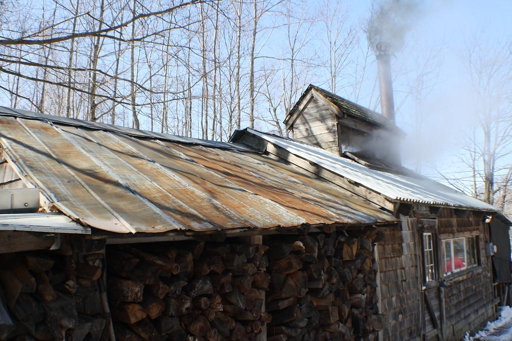 Bolduc Farm Sap House - Wood Pile<br /> Img_7685