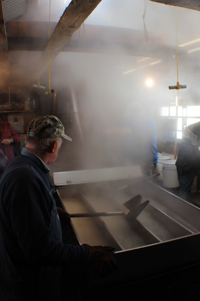 Bolduc Farms Sap House - Watching the Boil<br /> Img_7905<br /> w/Armand Bolduc
