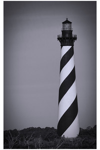 Cape Hatteras Lighthouse BW