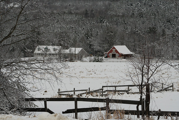 Winter Farm Scene<br /> Gilford, NH