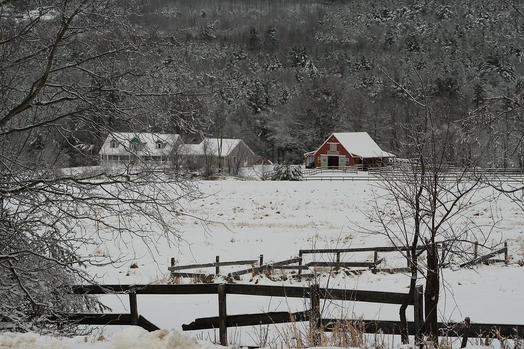 Winter Farm Scene<br /> Gilford, NH