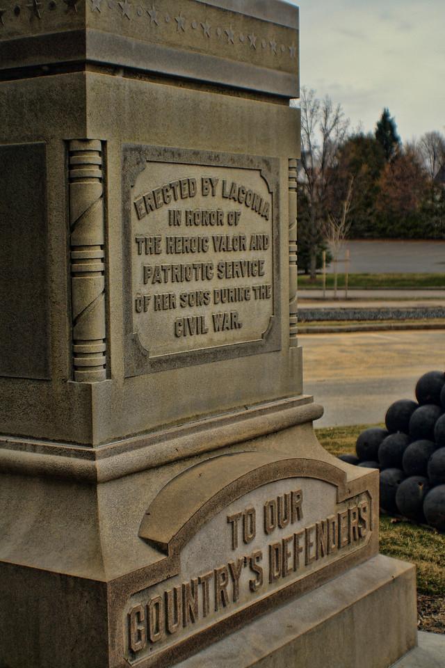 Veteran's Square Monument<br /> Laconia, NH