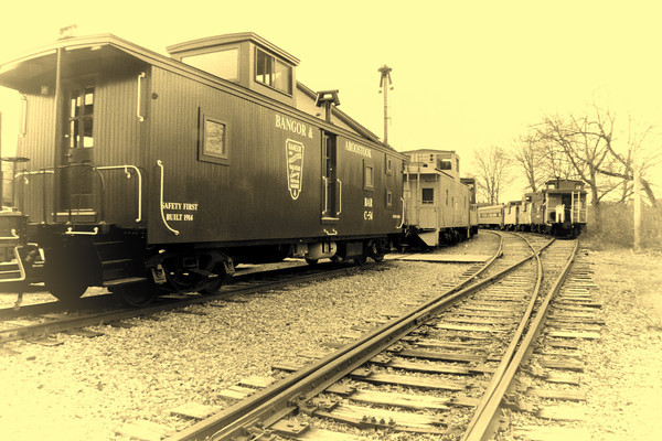 Bangor & Aroostook, Caboose at Merrimack Valley Railroad Co.<br /> Opalotype<br /> Tilton, NH
