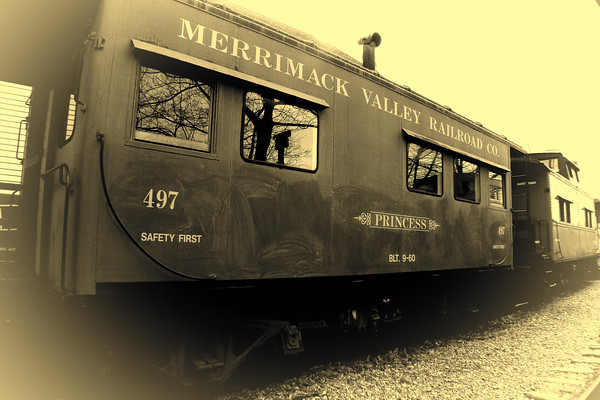 Merrimack Valley Railroad Co. Opalotype<br /> Tilton, NH