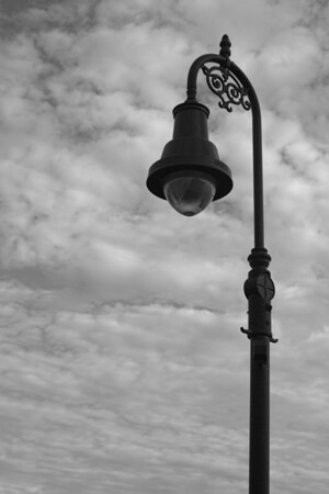 Old Type Lamp, B&W<br /> Manchester, NH