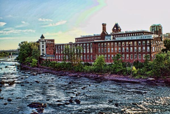 Morning Mills<br /> Taken from the Granite St. Bridge<br /> Manchester, NH