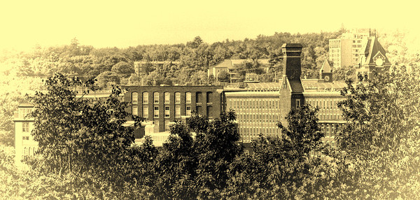 Mills Through The Trees<br /> Opalotype<br /> Manchester, NH