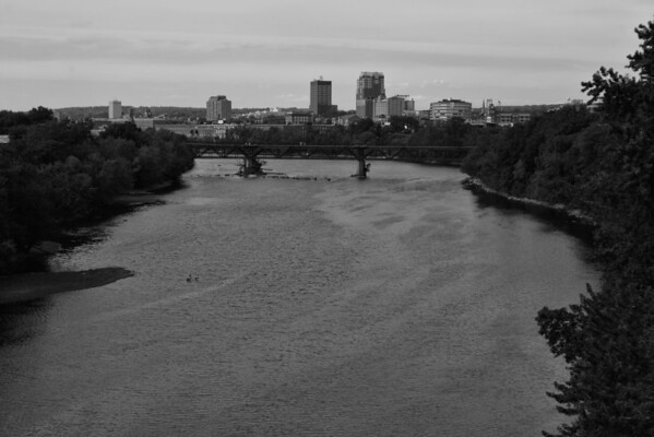 Manchester Skyline<br /> B&W<br /> Manchester, NH