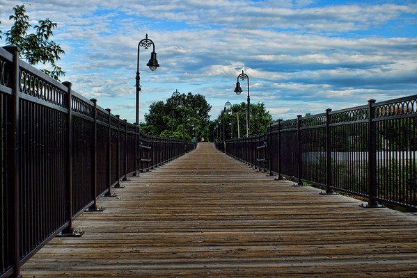 Merrimack River Pedestrian Bridge, Manchester, NH