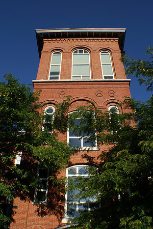 Bedford St. Mill Tower,<br /> Front View.<br /> Manchester, NH