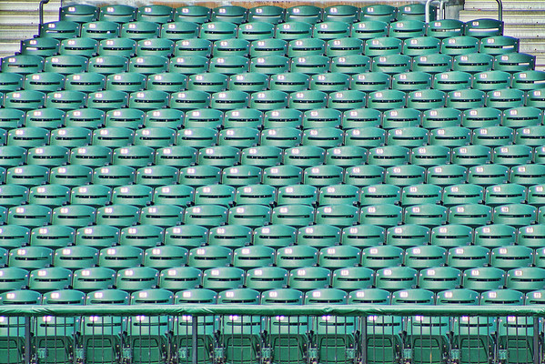 Find a seat.<br /> Left field seats at Fisher Cats Stadium in Manchester, NH<br /> (Early Morning shot)