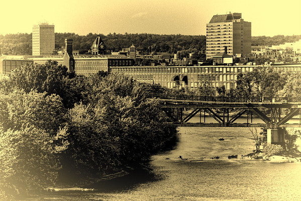 Mills and Bridge<br /> Opalotype<br /> Manchester, NH