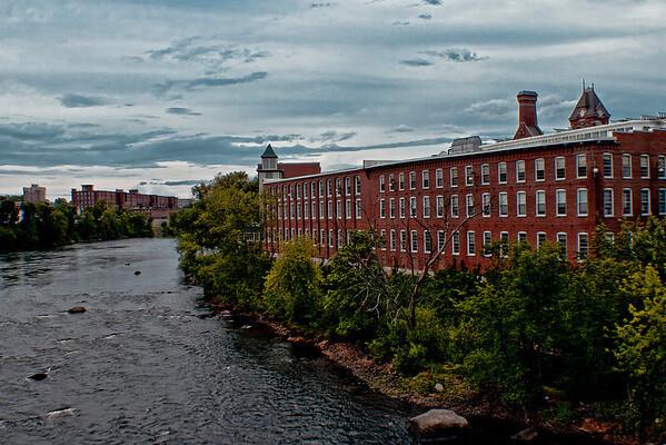 Morning Mills<br /> Mills along the Merrimack River in Manchester, NH<br /> Taken from the Granite Street Bridge<br /> Img 5973