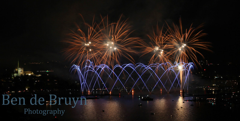 Fireworks at Geneve Aug 2011 View 1