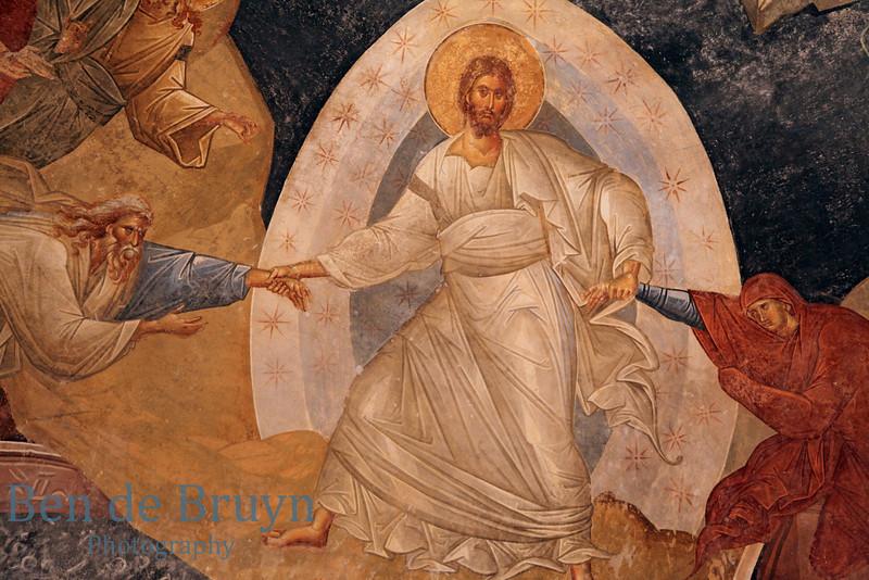Istanbul:Fresco in the Kariye museum (Chora Church)