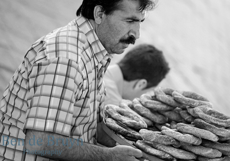 Istanbul:Man selling baked goods