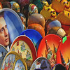 Souveniers on sale  in Moscow Russia