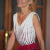 Woman attending GQ function near Bolshoi Theater Moscow Russia