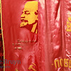 Lenin flag on sale outside Moscow at a market