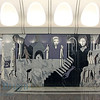 Dostoevsky metro station with scenes from Dostoevsky novels on walls