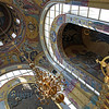 Inside orthodox church at Victory Park  in Moscow Russia