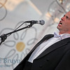 Man singing at charity function in Moscow