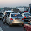 Traffic jam on the Moscow ring road