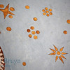 Painted star and circles design inside orthodox church of Cathedral St. Vasily the Blessed (Saint Basil's) in Moscow Russia
