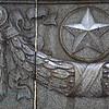 Star design war memorial in grey marble grey celebrating the Soviet Union