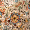 Painted flower design inside orthodox church of Cathedral St. Vasily the Blessed (Saint Basil's) in Moscow Russia