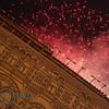 Moscow Landmark: GUM department store fireworks outside
