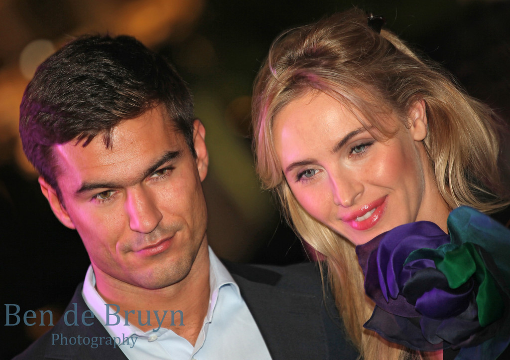Couple attending GQ function near Bolshoi Theater Couple Moscow Russia