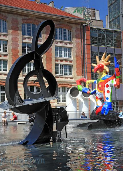 Paris: Colourful Square near pompidou museum July 2012