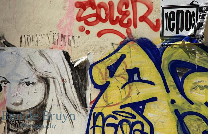 Paris: Street art near pompidou museum 2 July 2012